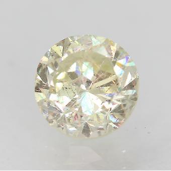 Certificato 1.18 Carat J VS2 Brillante Brillante Migliorato Naturale Sciolto Diamante 6.51mm