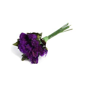 6 künstliche lila Distel-Spray-Tipps für Floristik-Handwerk