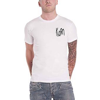 Korn T Shirt sérénité de la souffrance Scratch Band Logo nouveau blanc officiel homme