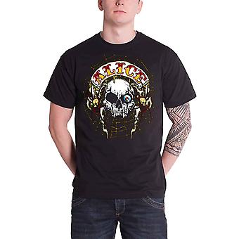 Alice Cooper Band volta patch oficial Mens nova camiseta preta