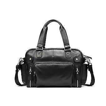 Hautton Leather Black Medium Holdall 18.0
