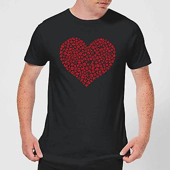 Super Mario Items Heart Men-apos;s T-Shirt - Noir