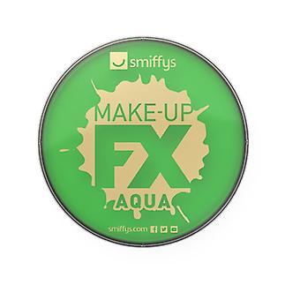 Smiffys Make-Up FX, lysegrønt, Aqua ansigt og krop maling, 16ml vand baseret Fancy kjole tilbehør