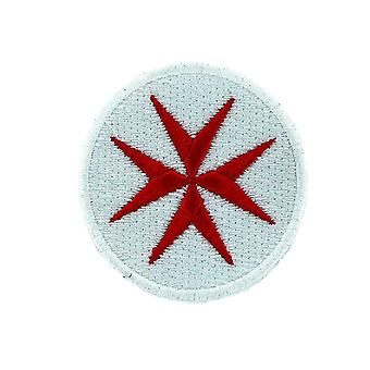 Patch Ecusson Brode Backpack Flag Cross Templar White Crusade Infidel