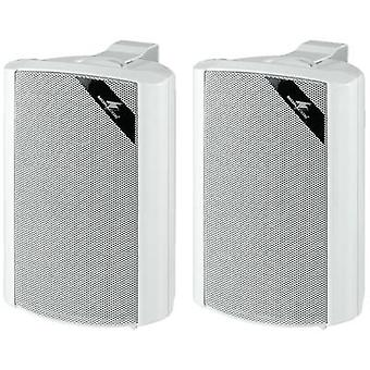 Monacor MKS-34/WS Wall speaker 45 W 4 Ω White 1 Pair