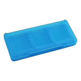 6 in 1 card holder storage game case for nintendo 3ds 2ds ds - blue