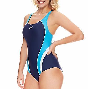 Zoggs Mulheres Katherine Actionback Piscina Swim Swimsuit Costume - Marinha