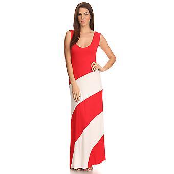 Women's Striped Sleeveless Maxi Summer Dress