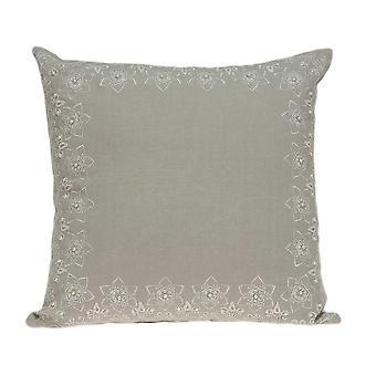 """20"""" x 7"""" x 20"""" Cubierta de almohada beige de transición decorativa con inserción de polietileno"""