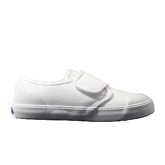 Startrite Skip White Canvas Unisex Rip Tape School Plimsoll Shoes