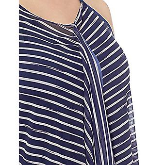 BEACH HOUSE WOMAN Women's Plus Size Tankini Top Swimsuit with Mesh Detail, Sh...