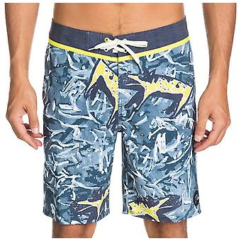 Quiksilver Ghetto Yoke 19 Mid Length Board Shorts in Dark Denim