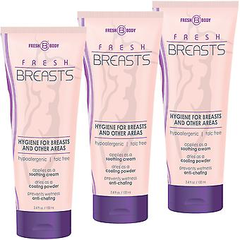 Fresh Breasts de Fresh Body 3.4oz (3 Pack) Antitranspirante Líquido Chafing Powder