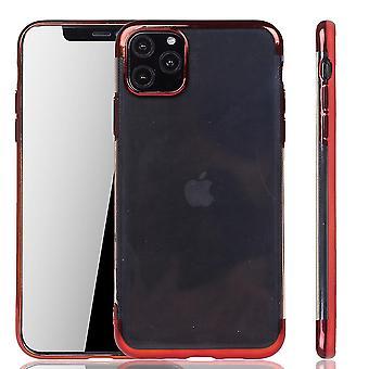 Funda de teléfono para Apple iPhone 11 Pro Max Rojo - Claro - TPU Caso de silicona Funda protectora en rojo transparente / brillante