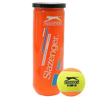 Slazenger Unisex Orange Mini Tennis Balls 3 Ball Tubes