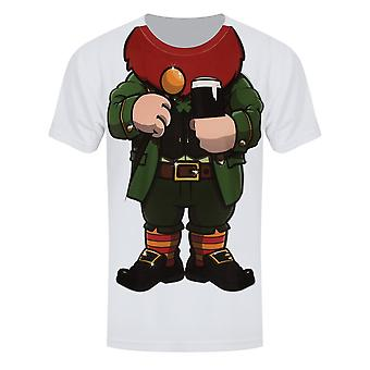 Grindstore Mens Cheeky Leprechaun Sous T Shirt
