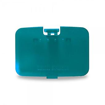 Zedlabz replacement expansion cover jumper pak door for nintendo 64 n64 - turquoise