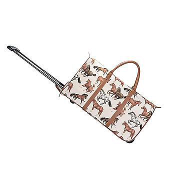 Running horse luggage pull holdall by signare tapestry / pull-rhor