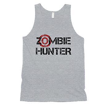 Zombie Hunter miesten harmaa hauska ihana kunnioittava Halloween säiliö alkuun