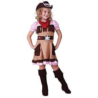 Girls Cowgirl Cutie Fancy Dress Costume