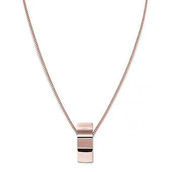 Rosefield BWCNR-J207 necklace and pendant - COLLECTION THE LOIS Colier charm wave gold gold pink Steel Women