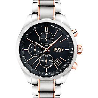 Hugo Boss horloge 1513473-zilver staal horloge dor Rose zwarte wijzerplaat mannen