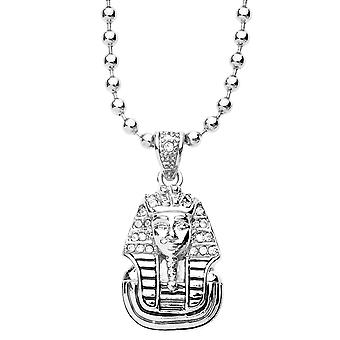 Iced Out Bling Fashion Kette - MICRO PHARAOH KING silber