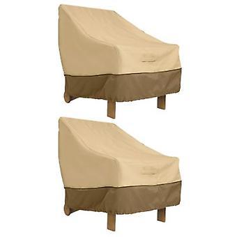 Accessori classici Veranda Adirondack Sedia Copertina - Copertura per mobili da esterno resistente all'acqua (71932-2Pk)
