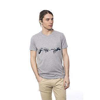 T-shirt manches courtes gris Bagutta homme
