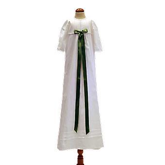 Abito battesimo con fiocco verde chiaro in cotone, Grace Of Sweden Tr.b.