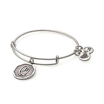 Alex and Ani Rafaelian Silver Initial Q Charm Bangle