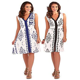 Pistachio Women's Aztec Print Pretty Summer Dress
