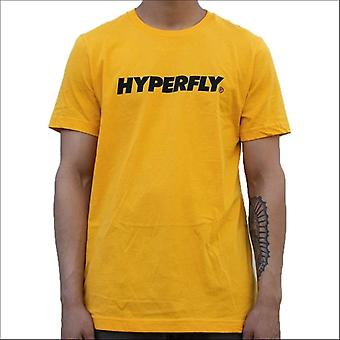 Hyperfly logo t-shirt yellow