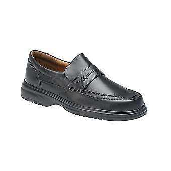 Roamers Black Leather Mudguard Tab Casual Leather Qtr Lining & Sock Fulfit Lightweight Pu Sole