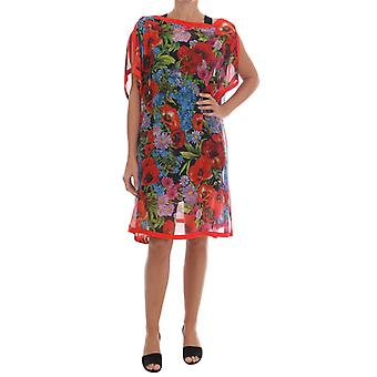 Vestido dolce & Gabbana Multicolor Floral Silk Poncho