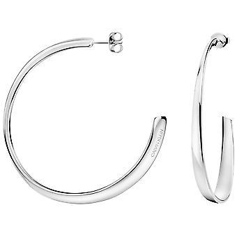Calvin Klein Groovy zilver RVS hoepel oorbellen KJ8QME000100