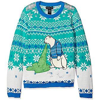 Blizzard Bay Big Boys Ugly Chrismas Sweater Animals, blue/cream/green/polar b...
