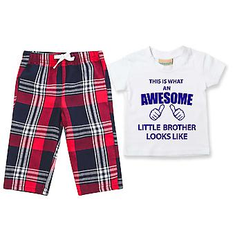 Awesome Little Brother Tartan Trouser Pyjamas