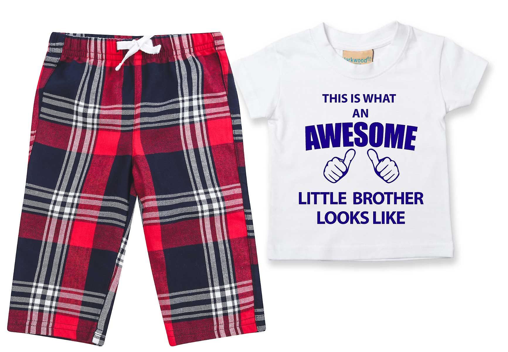 Awesome Little Brother Tartan Trouser Pyjamas