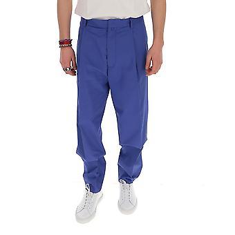 Maison Flaneur 20smupa100tc127bluette Men's Blue Cotton Pants