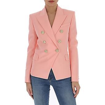 Balmain Tf17110167l4fb Women's Pink Cotton Blazer