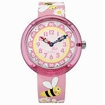 Flik Flak Watches Fbnp098 Daisy Bee Pink Textile Watch