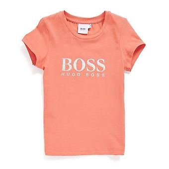 Hugo Boss Flickor Hugo Boss Girl's Pink T-Shirt