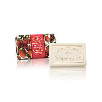 Saponificio Artigianale Fiorentino Handmade Soap - Red Fruits - Lovingly Wrapped in Wraps 250g