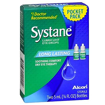 Alcon systane lubricant eye drops, long lasting, 2 ea