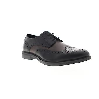 Unlisted by Kenneth Cole Open Wide Mens Black Dress Lace Up Oxfords Shoes