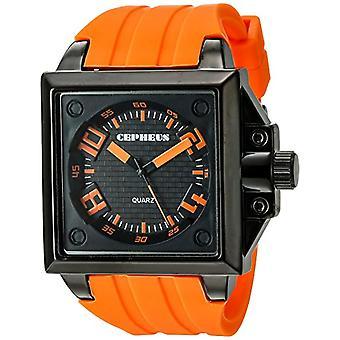 CEPHEUS CP904-629A-men's wristwatch, silicone, colour: Orange