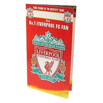 ليفربول مروحة رقم 1 بطاقة عيد ميلاد