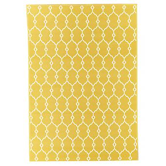 Outdoor carpet for Terrace / balcony yellow vitaminic trellis yellow 133 / 190 cm carpet indoor / outdoor - for indoors and outdoors