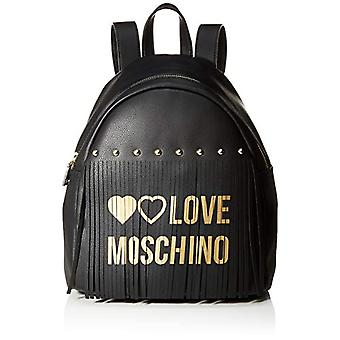 Love Moschino PU dames rugzak tas (zwart) 30x12x28 cm (b x H x L)